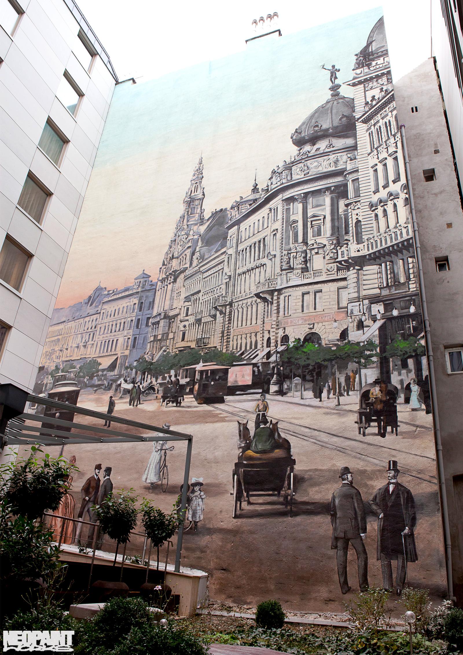 neopaint works - művészi falfestmény falon - zara hotel