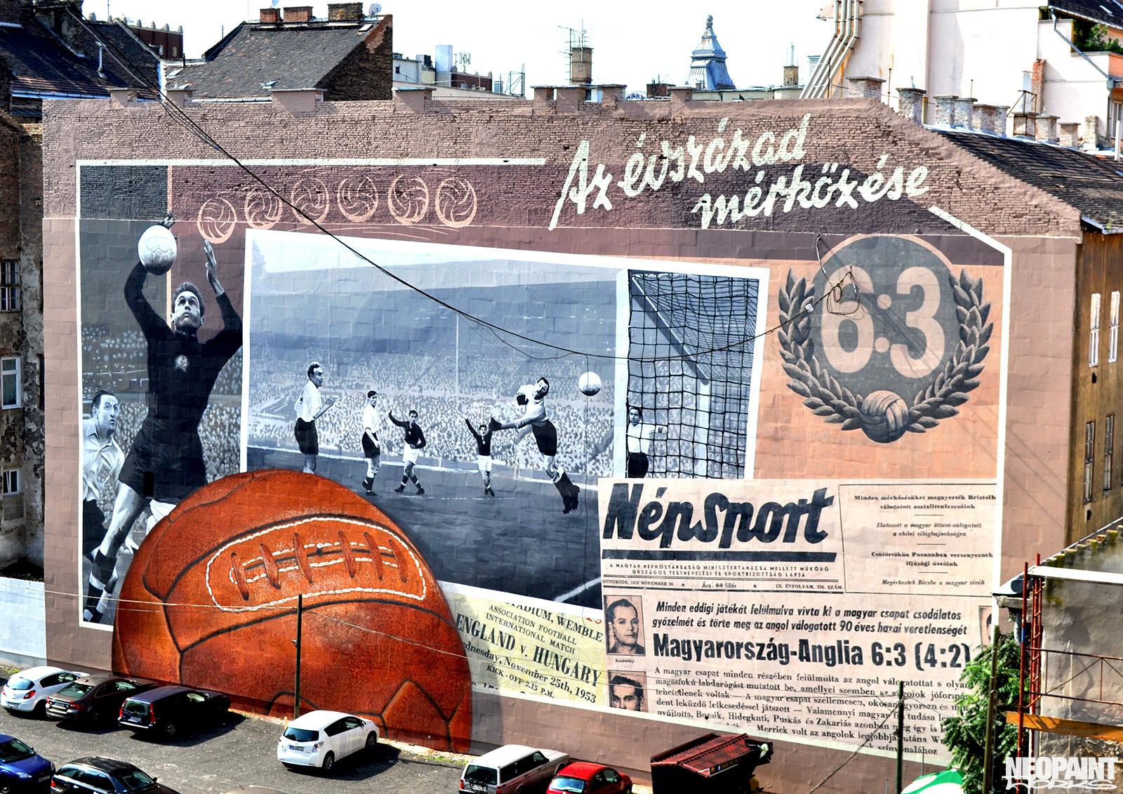 neopaint works - tűzfalfestmény - 6-3 az évszázad mérkőzése