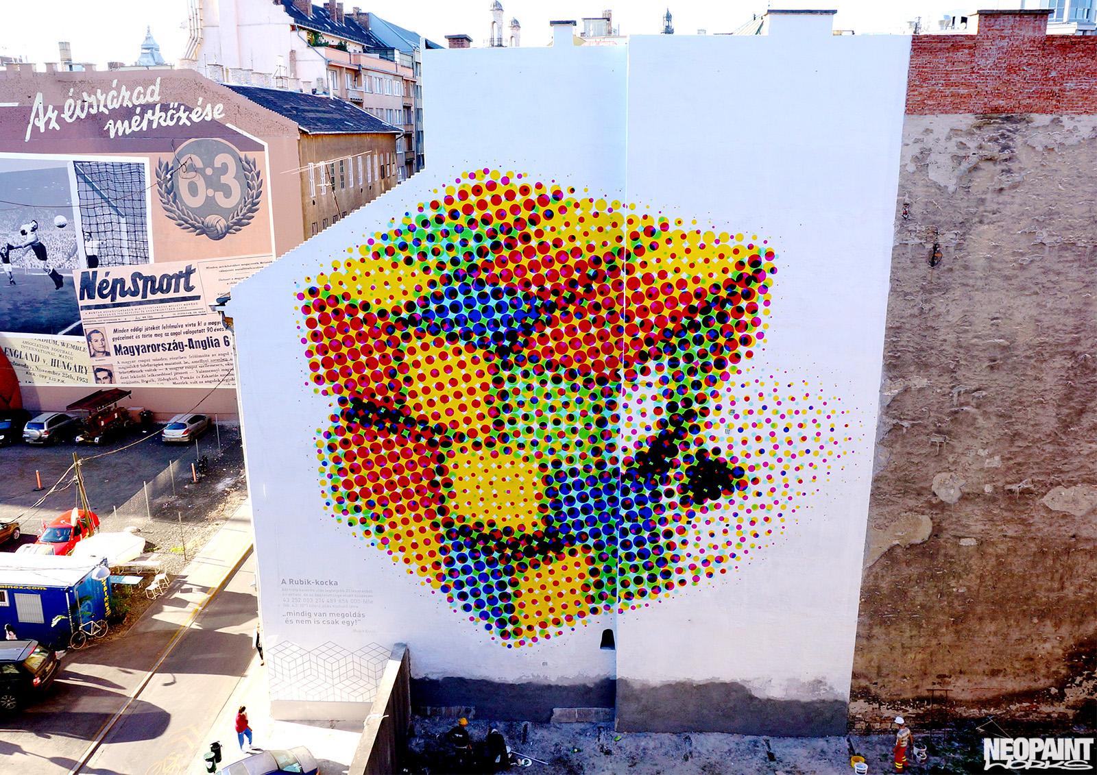 neopaint works - nagy méretű művészi falfestmény