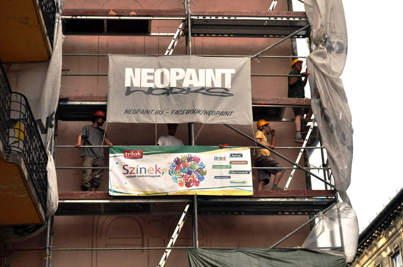 Zöldséges - Klauzál tér - Neopaint Works