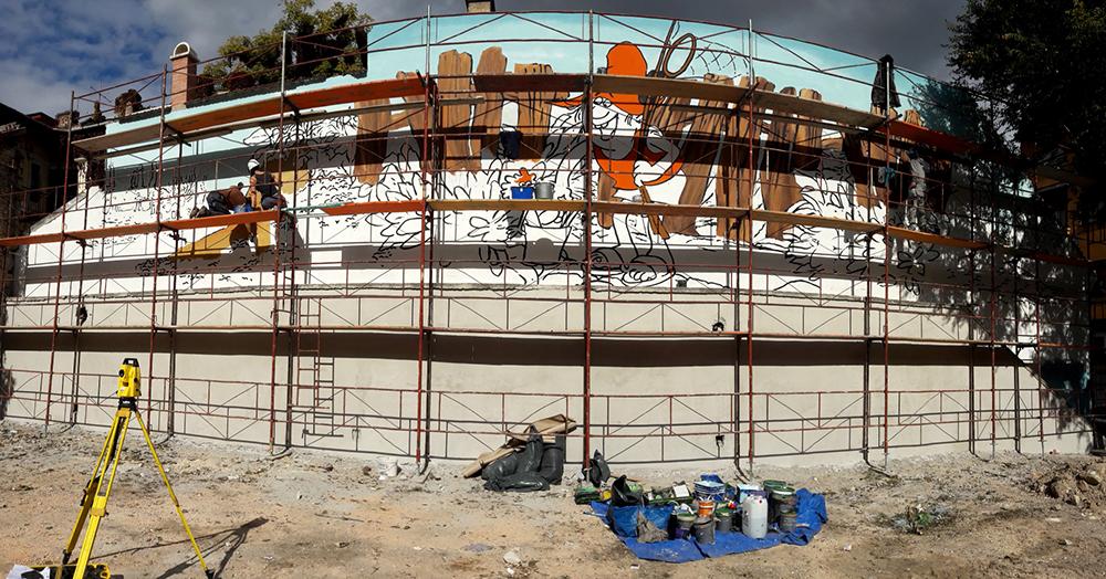 a nagy hóhóhó horgász falfestmény - neopaint works