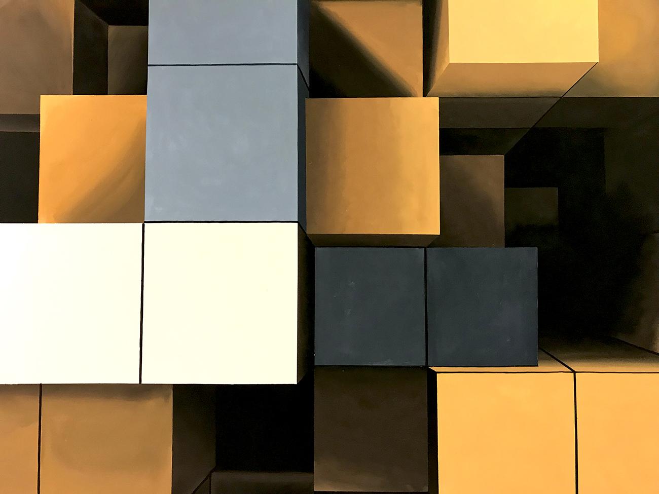 cube dekorfestmény - neopaint works