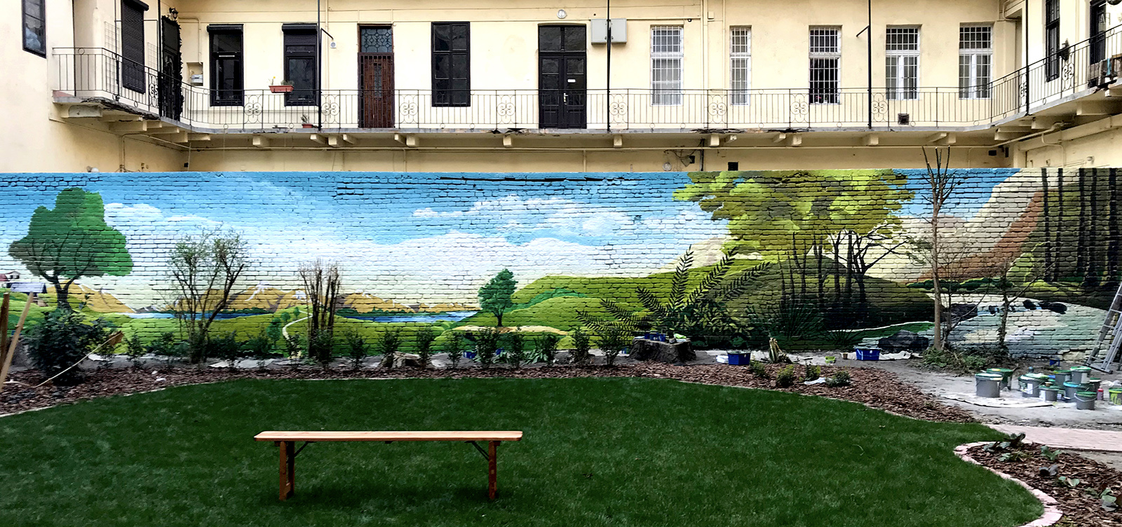 tájkép falfestmény - neopaint works