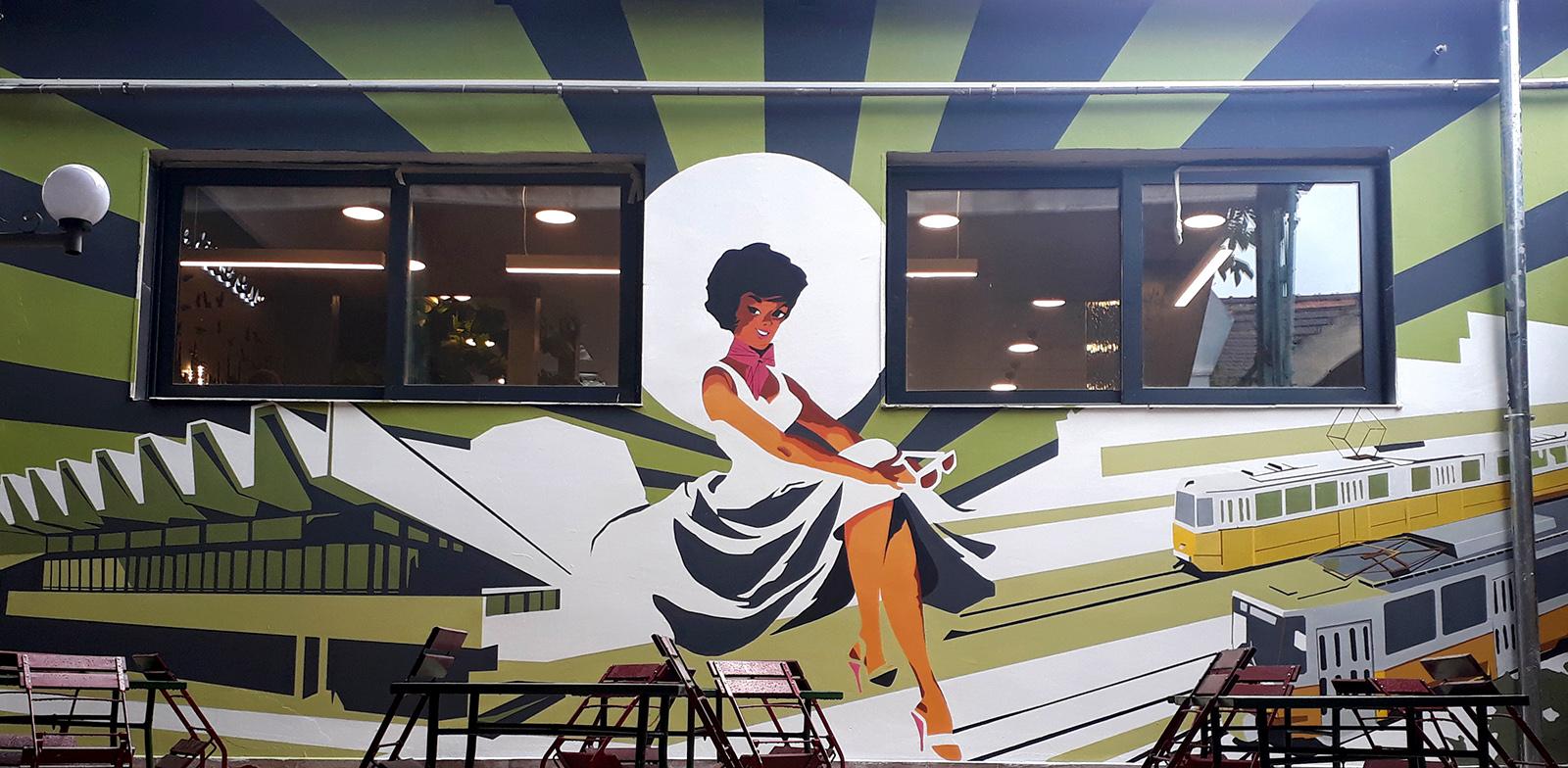 il treno dekor falfestés - neopaint works