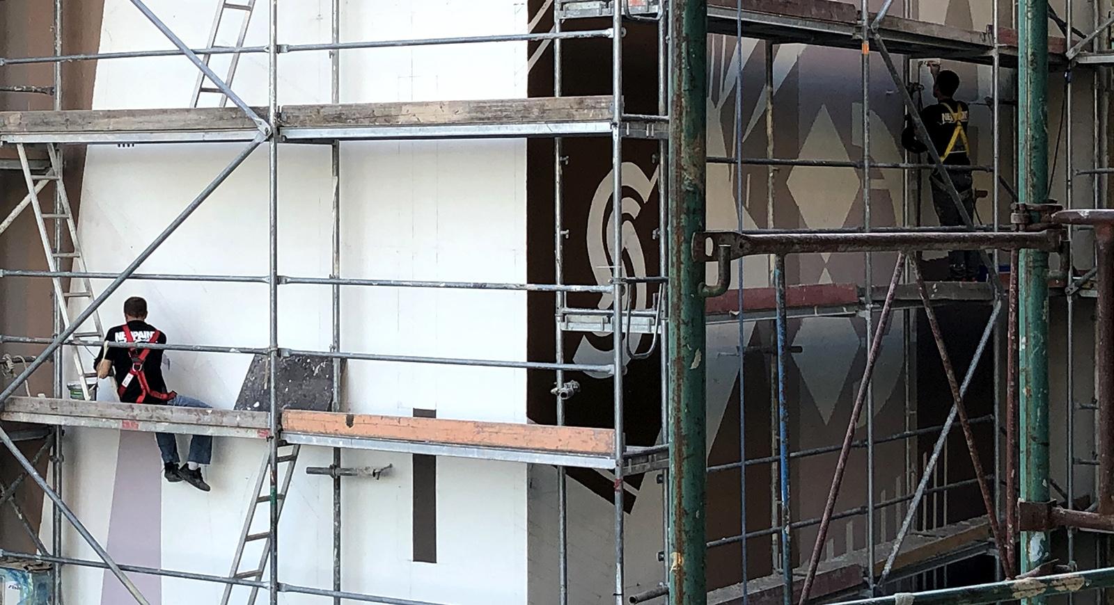 lakópark tűzfaldekoráció - neopaint works