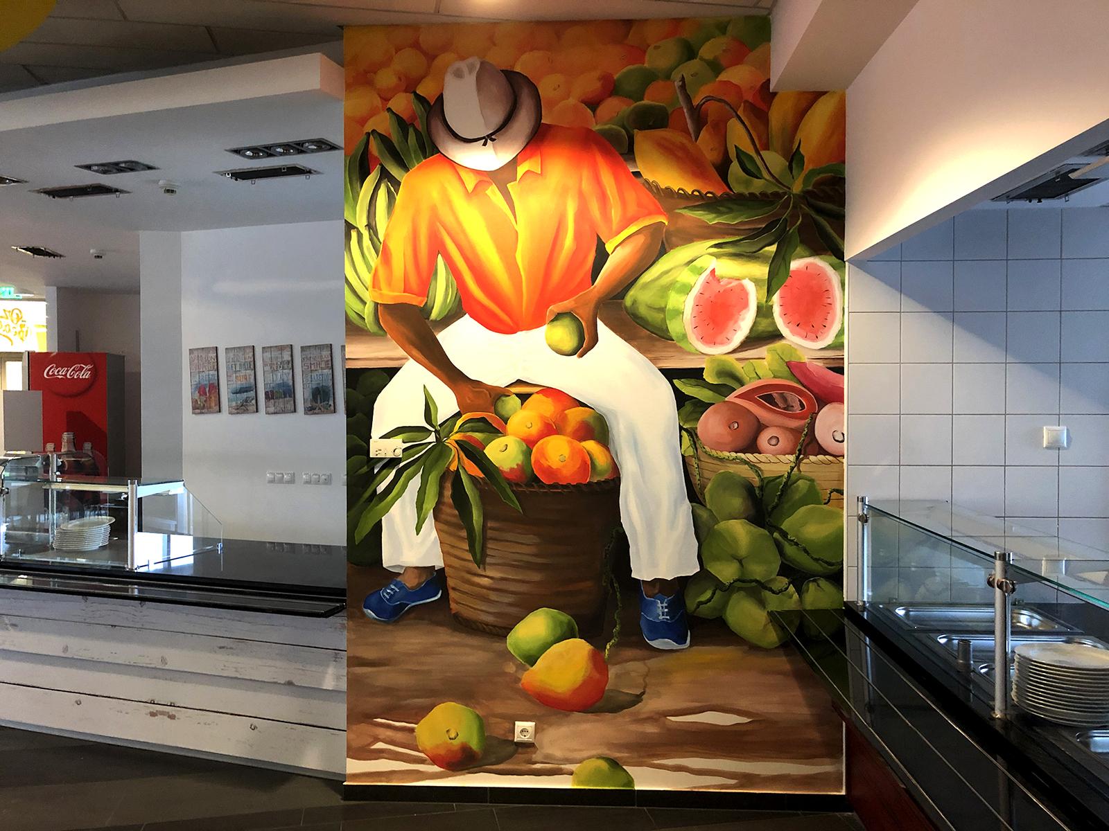 Piac dekorációs festés