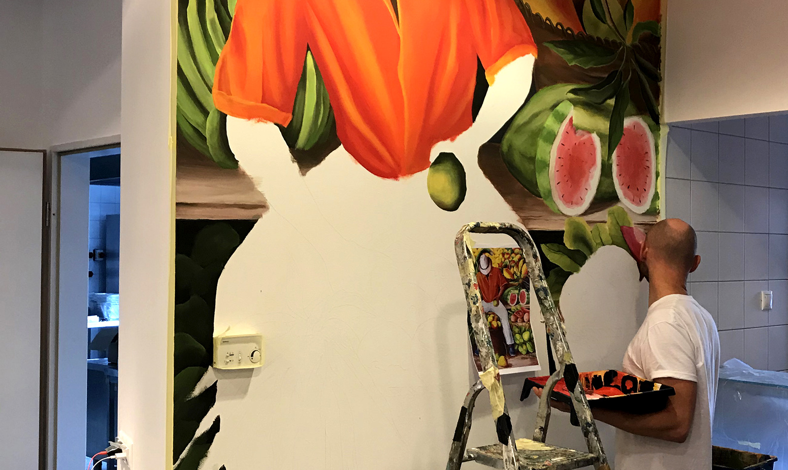 éttermi dekor - neopaint works