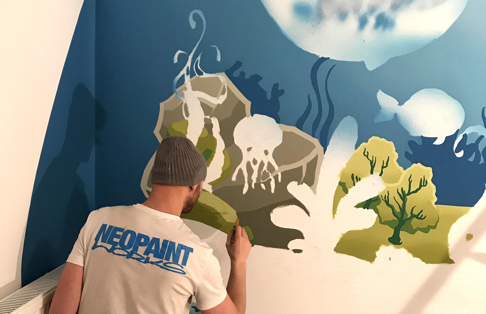 gyerekszoba dekoráció - neopaint works