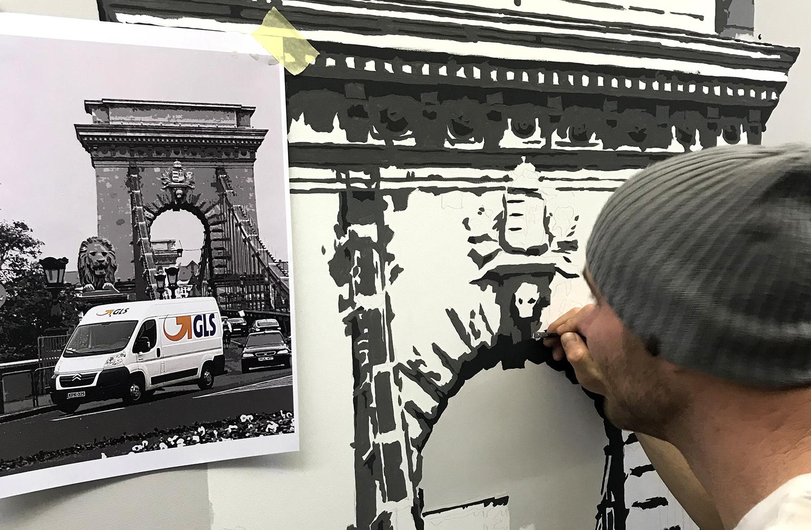 gls vászonkép festés - neopaint works