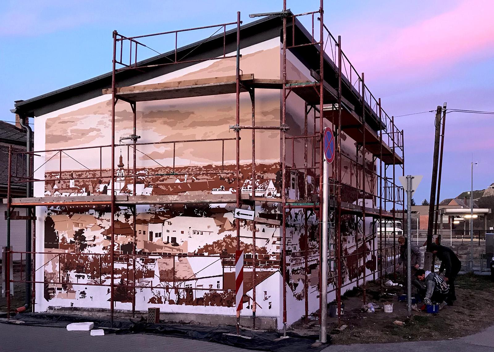 dunaföldvári épület dekoráció - neopaint works
