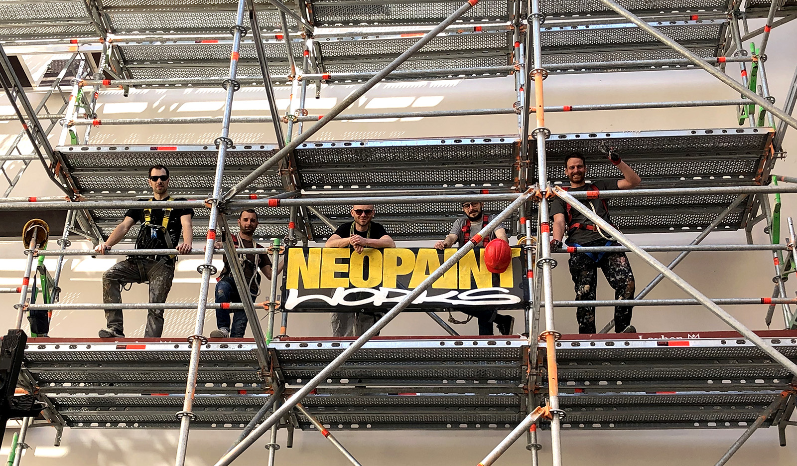 Tűzfalfestés - UNICEF Neopaint Works