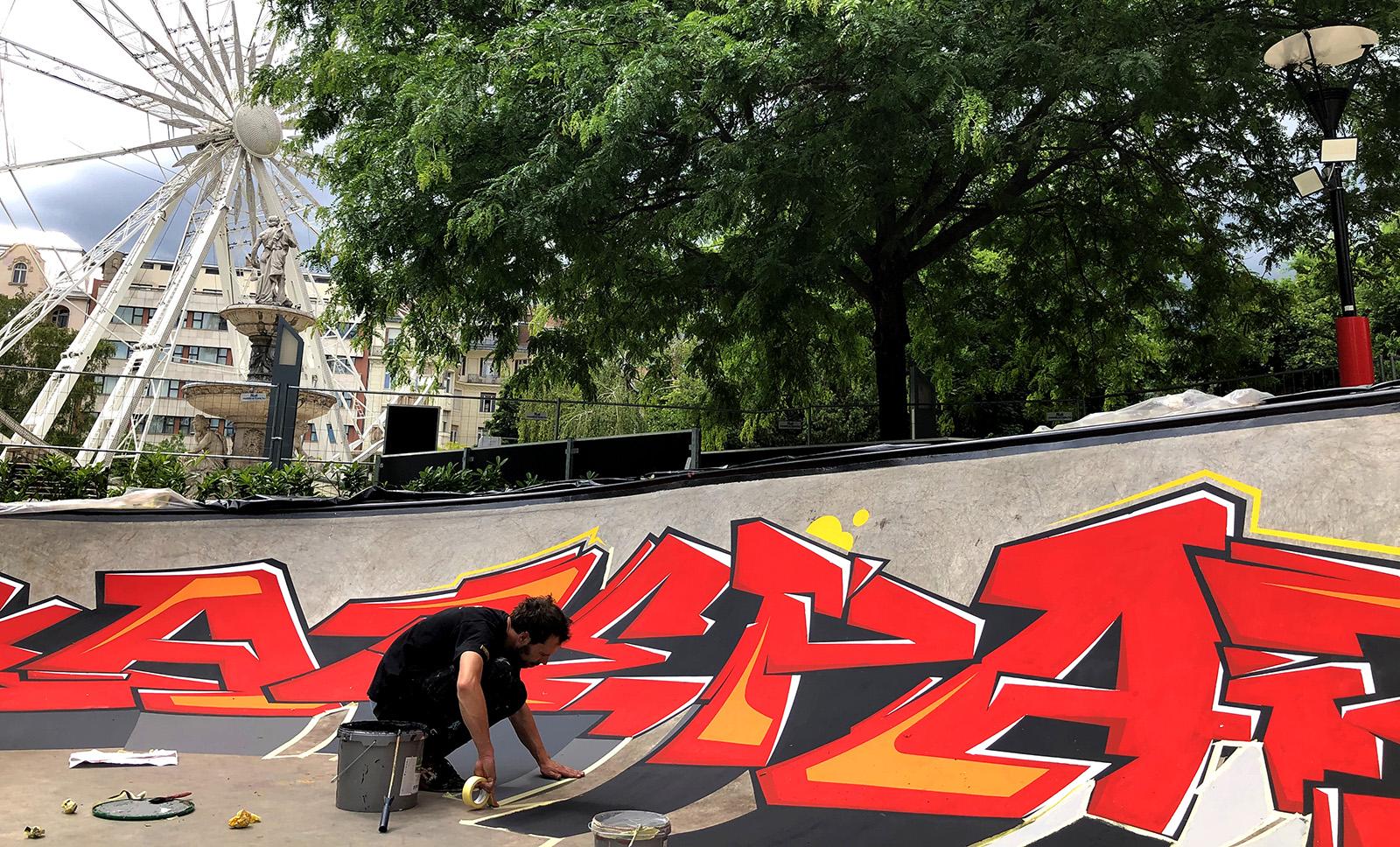 skatepark graffiti - neopaint works