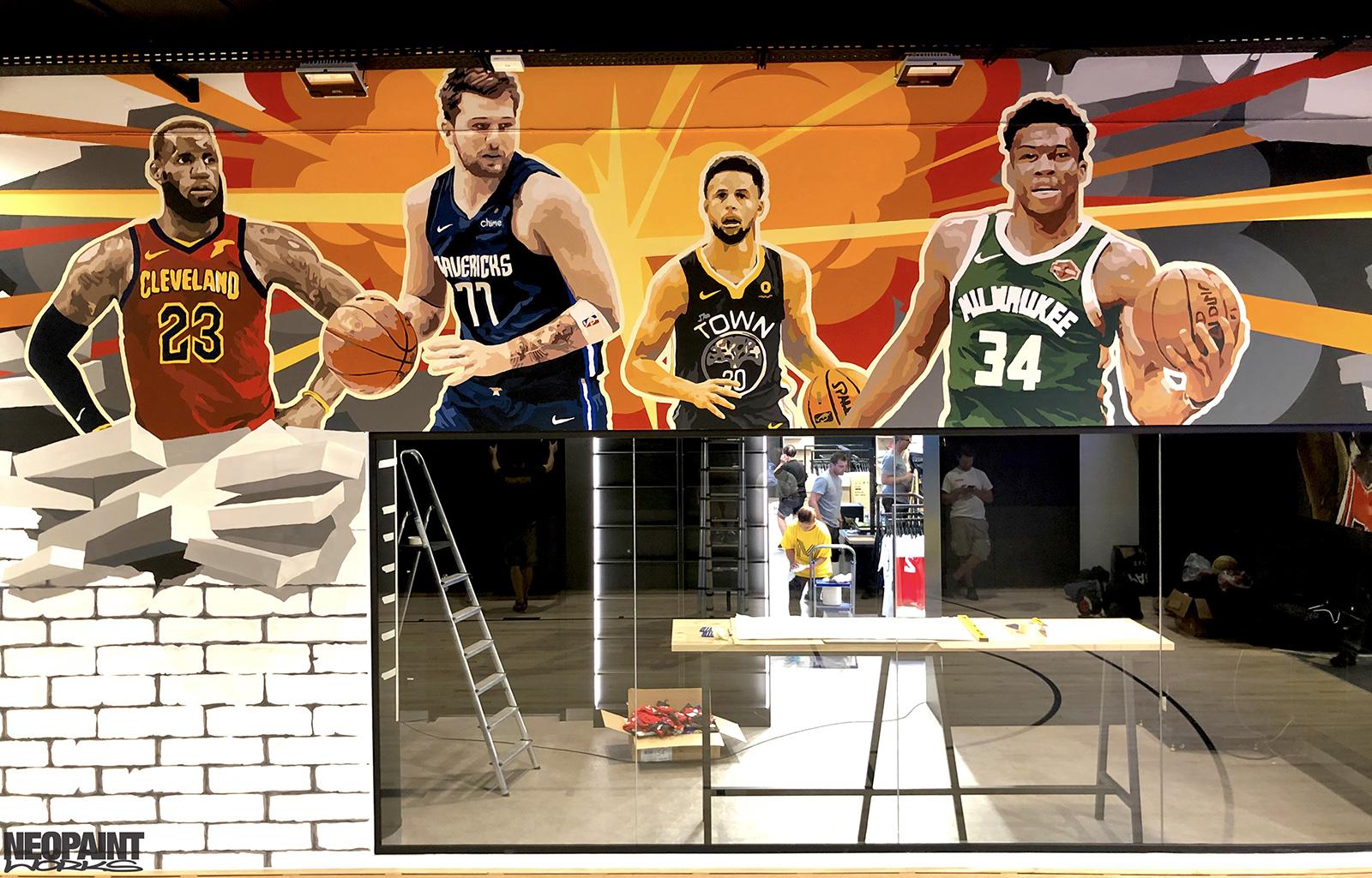 NBA - Grosbasket - dekorációs falfestés
