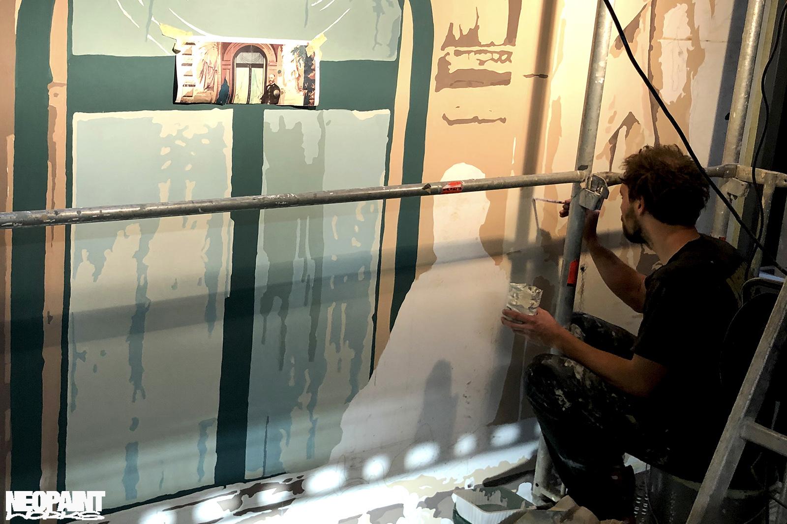dekorációs falfestmény - weiss manfréd