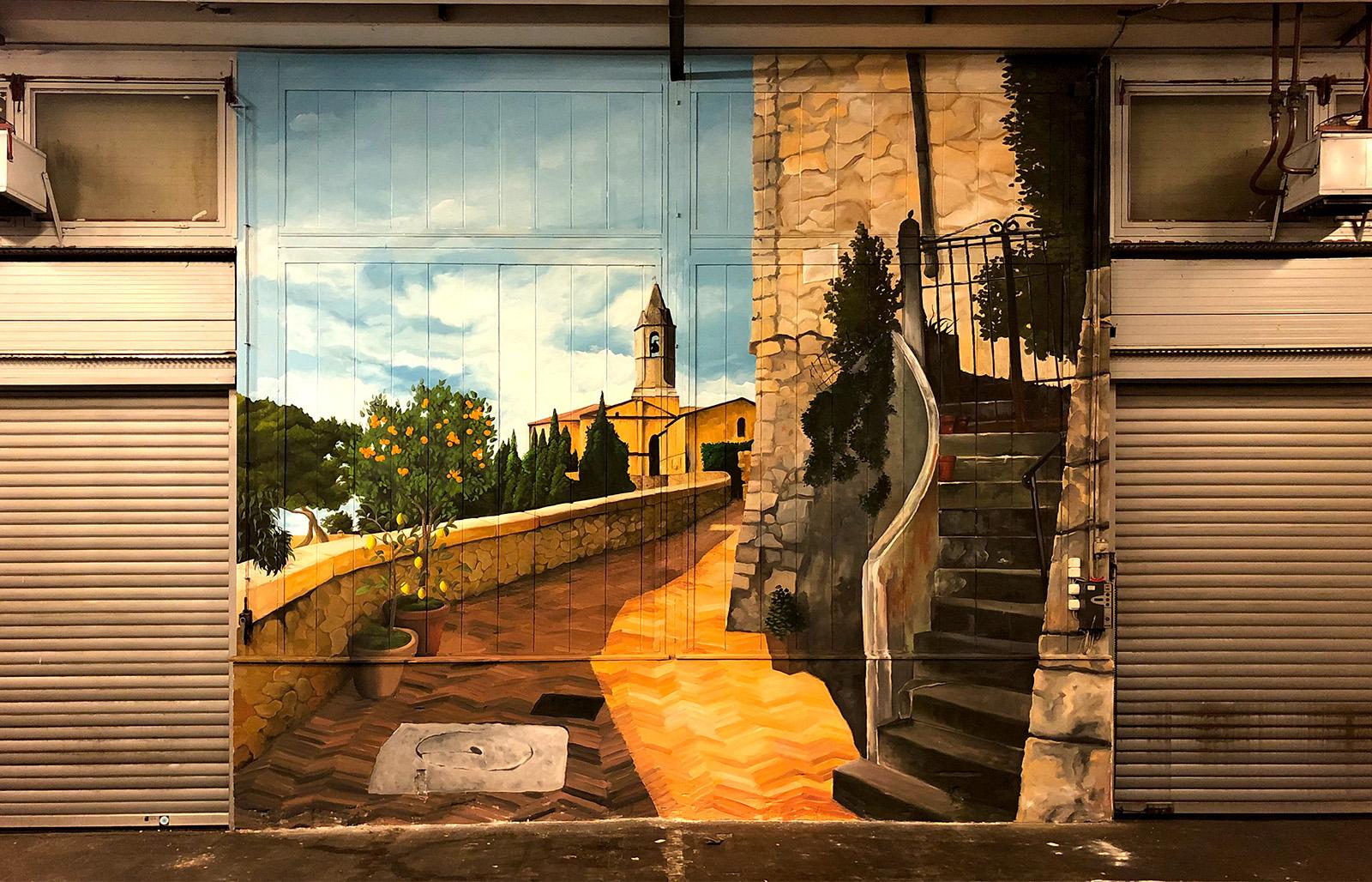 dekorfestés - olasz kisváros - neopaint works