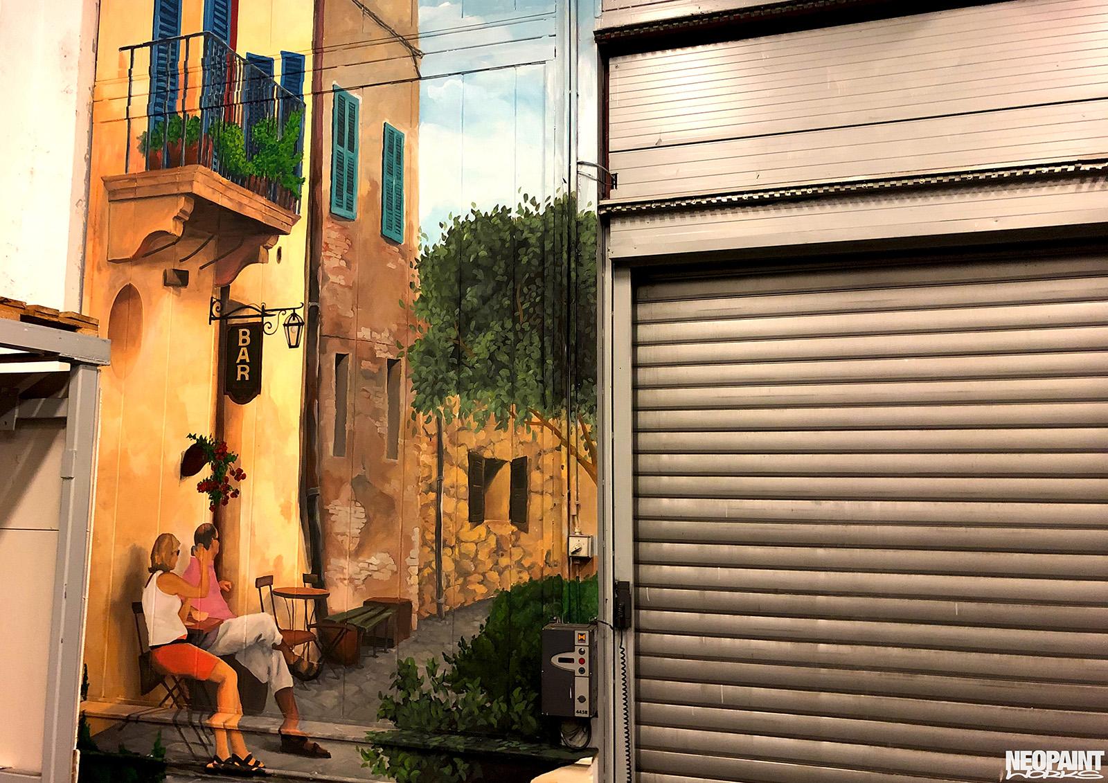 épületfestés - dekoráció - falfestmény - neopaint works