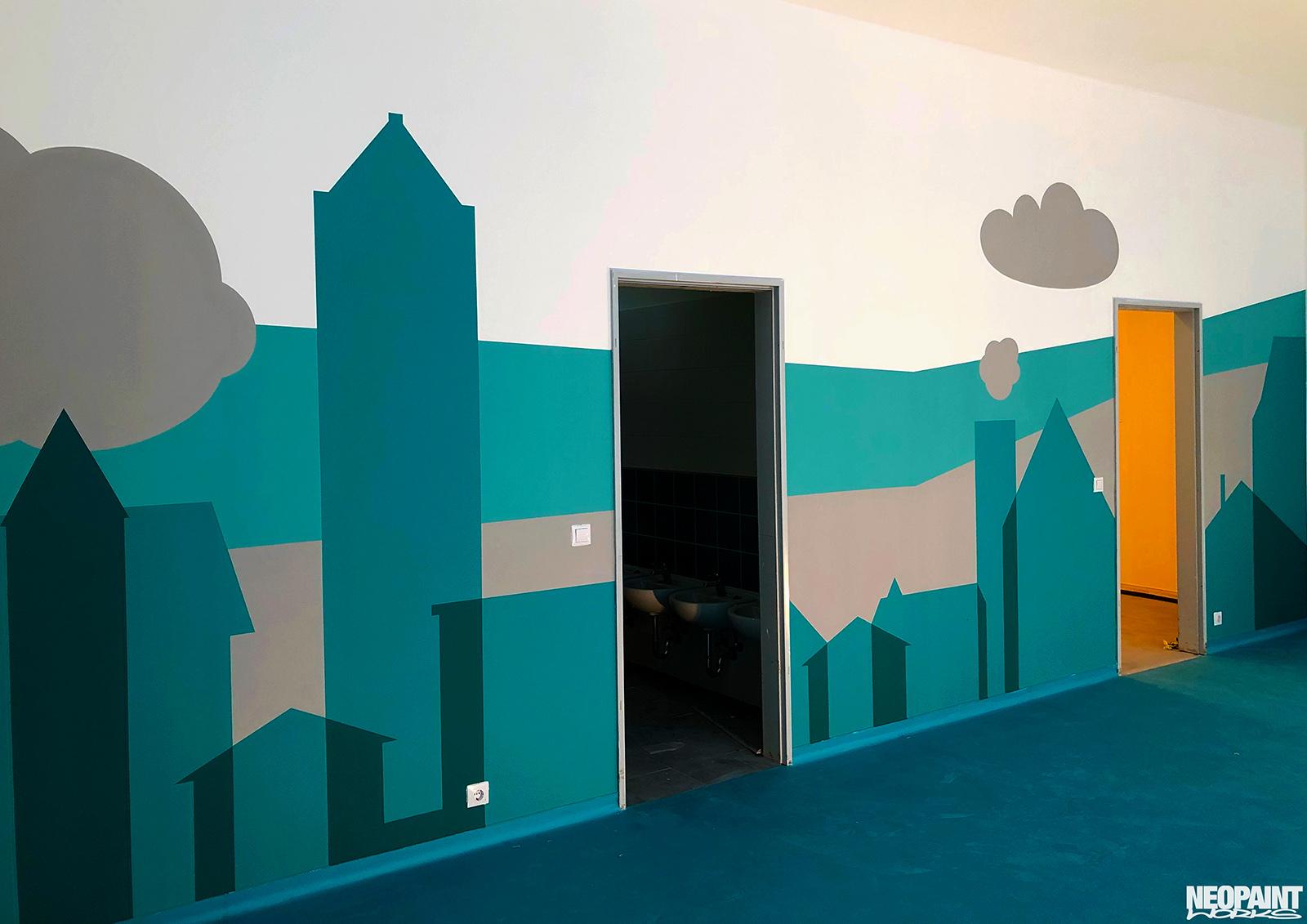óvodai falfestmény - faldekor - neopaint works