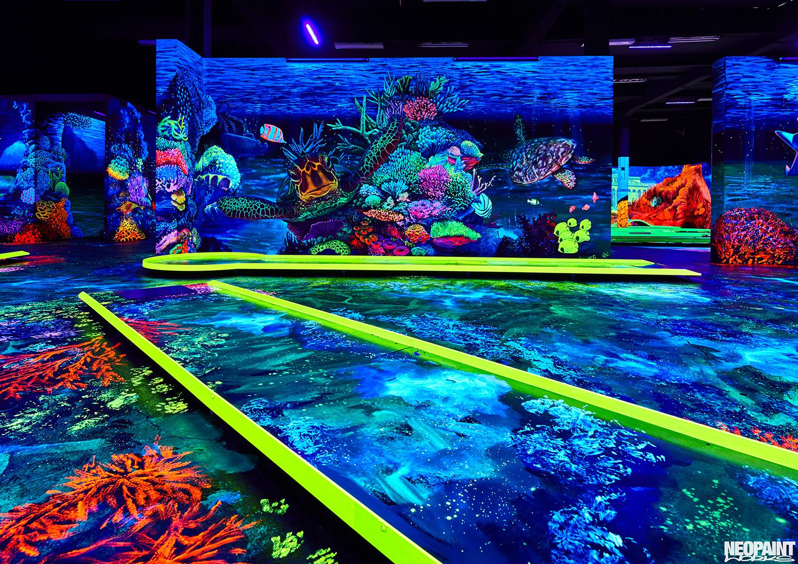 UV falfestés - UV - világító festés - neopaint works