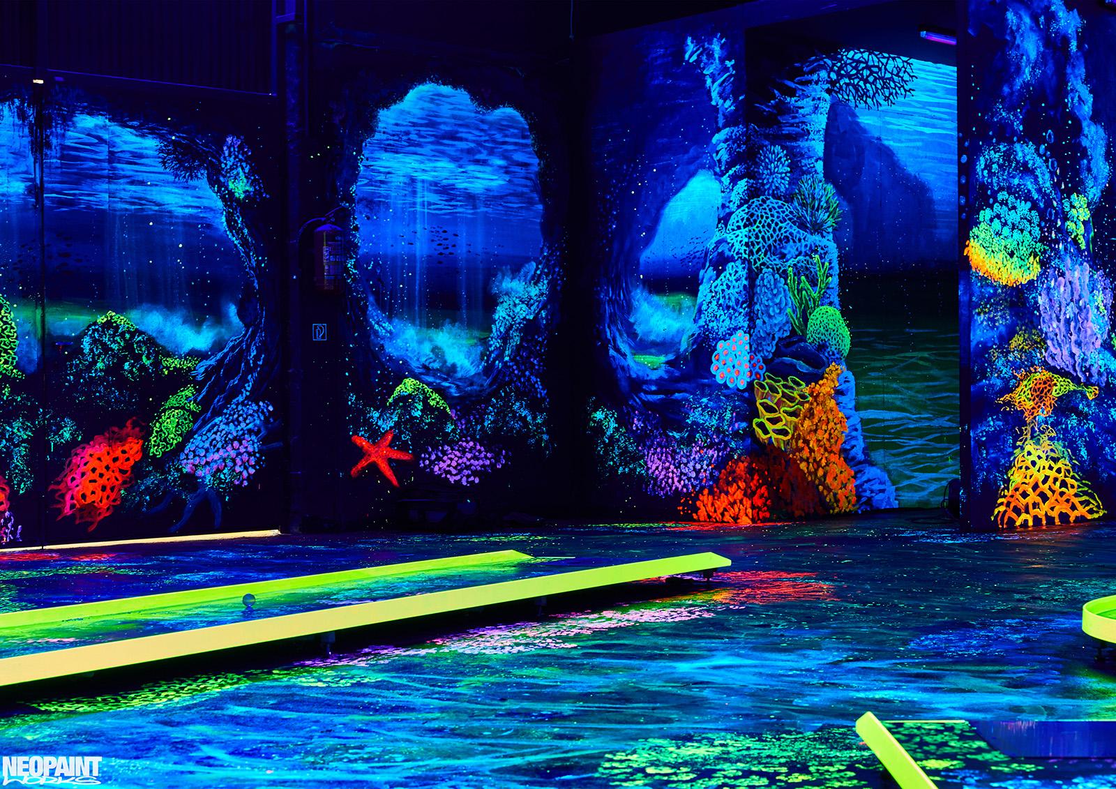 UV festés - fluoreszkáló festmény - neopaint works