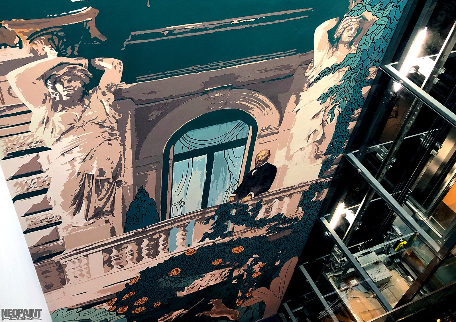dekorációs falfestés - festmény - faldekor - neopaint works - weiss manfréd - andrássy (4)