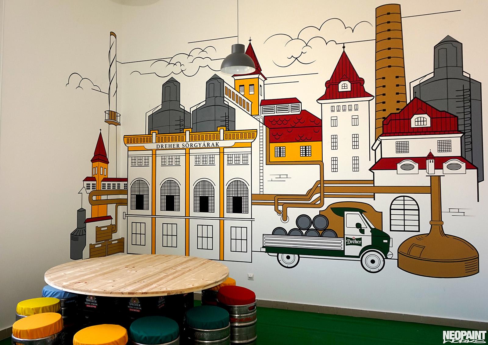 design festés - kreatív falfestés - Dréher Antal - sör - neopaint works (2)