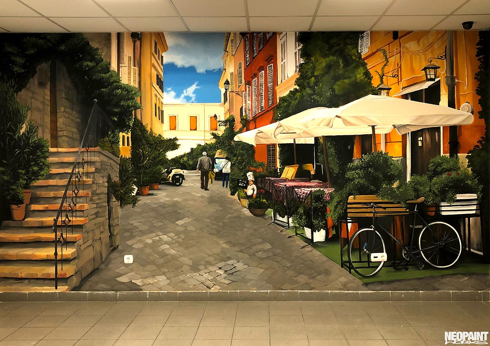 falfestmény dekoráció - graffiti - freskó - neopaint works - olasz kisváros (3)