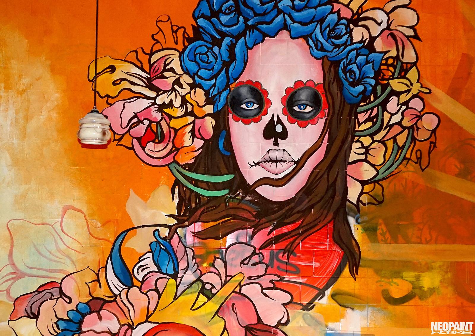 falfestmény - mexikói - graffiti - neopaint works - tereza (1