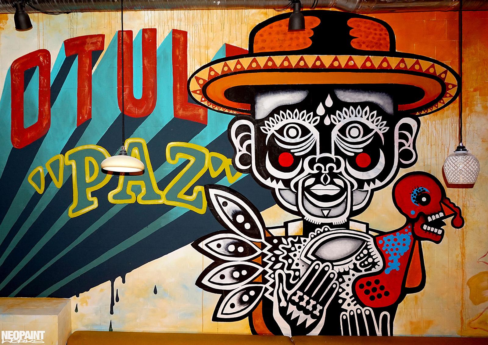 falfestmény - mexikói - graffiti - neopaint works - tereza -