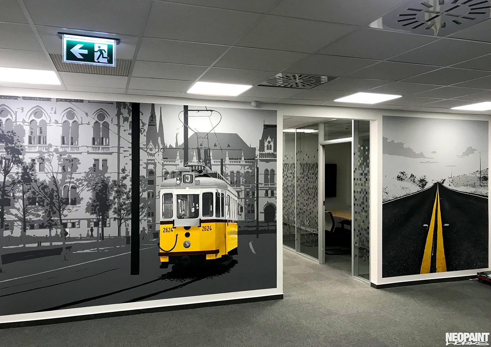 fotó minőség - falfestmény - dekor - villamos - neopaint works (2)