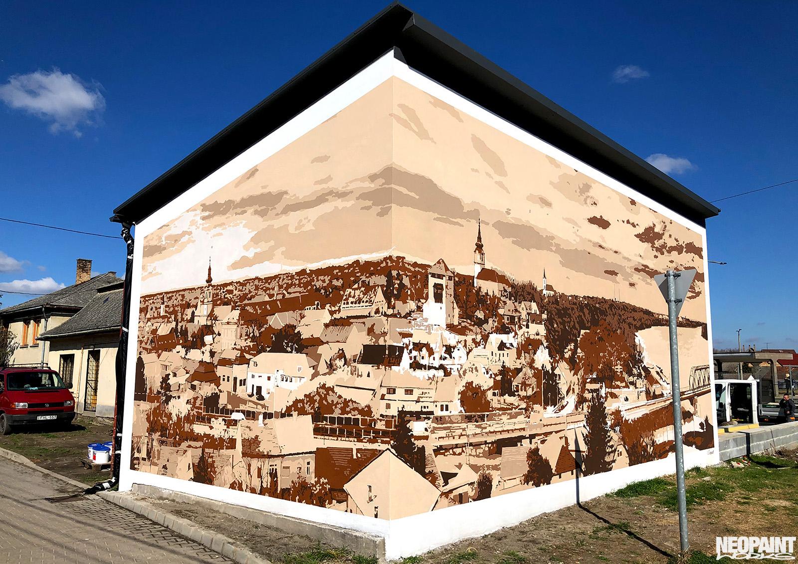 neopaint works - épület festés kreatívan - dunaföldvár panoráma