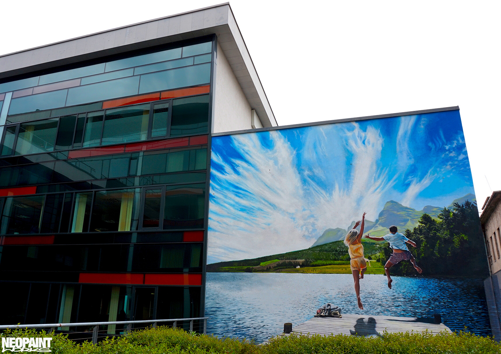 neopaint works - falfestmény épület homlokzat