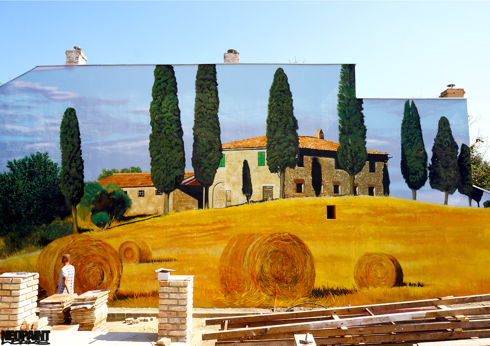 neopaint works - nagy falfestmény - toscana