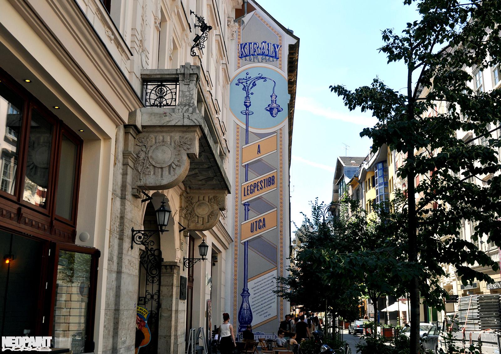 neopaint works - tűzfalfestmény - király utca - krúdy