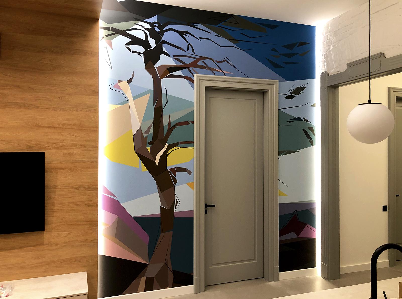 dekorációs falfestés - díszítőfestés - képfestés - neopaint - Csontváry (1)