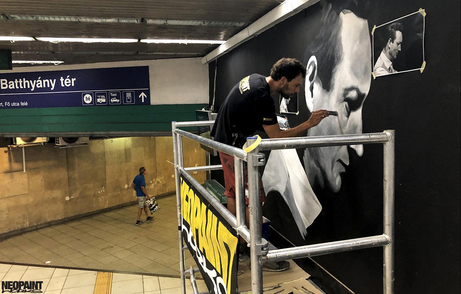 dekorációs falfestés - cziffra györgy - hév - graffiti - művészi falfestés - neopaint works