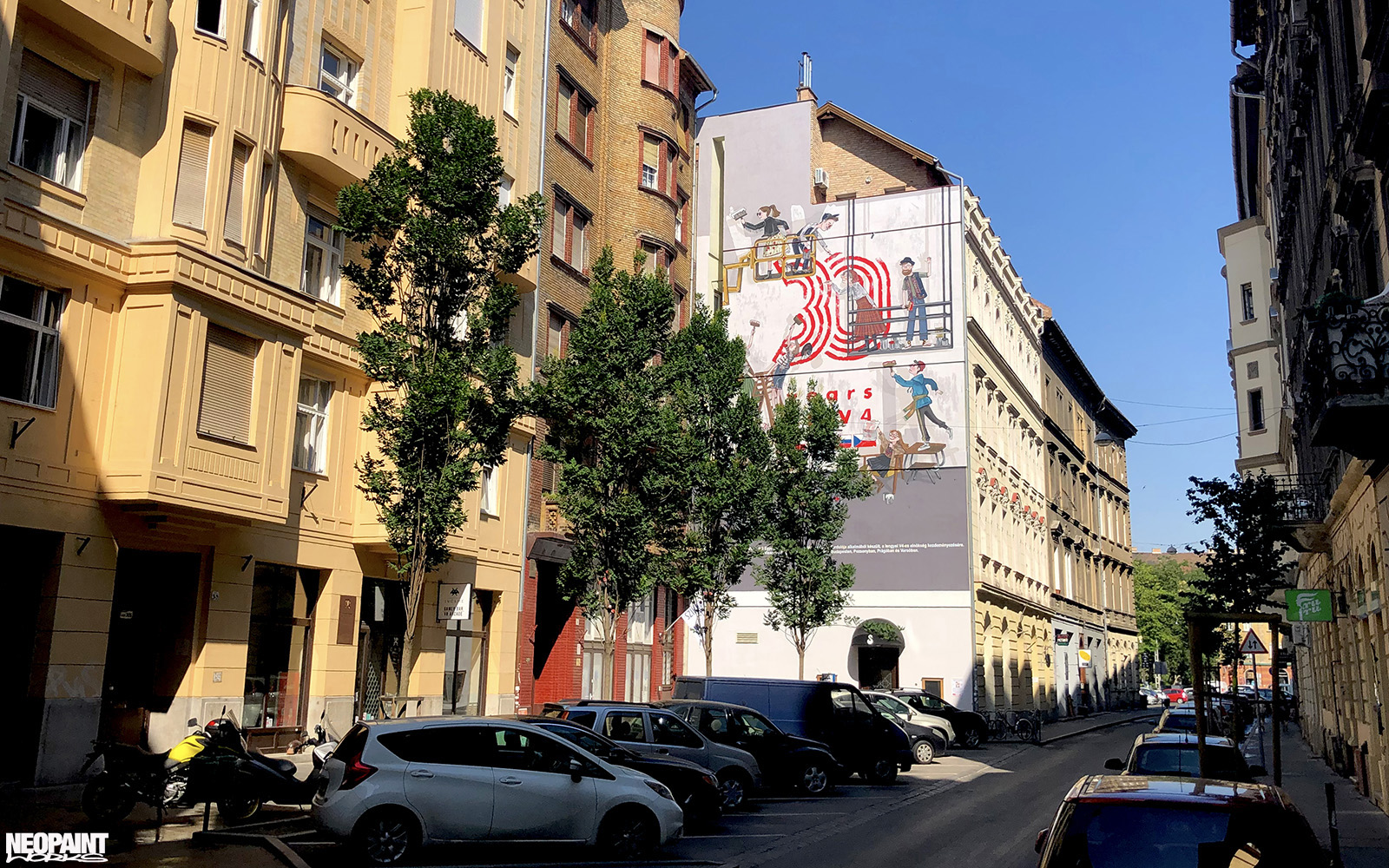 tűzfalfestés - tűzfalfestmény - köztéri falfestés - neopaint works - V4 - dekorfestés - budapest (3)