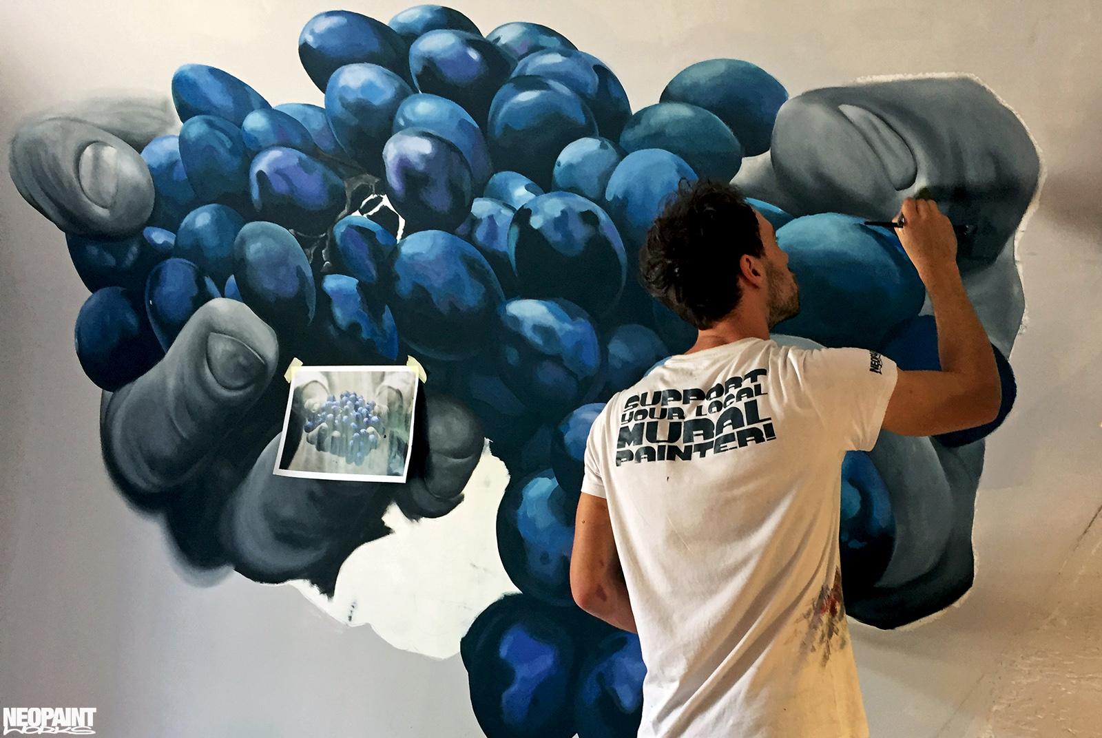 festett faldekoráció - dekorfestés - eger - szőlő - neopaint works (1)
