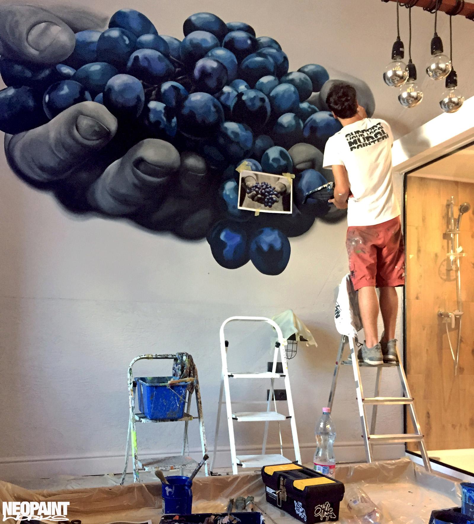 festett faldekoráció - dekorfestés - eger - szőlő - neopaint works (3)