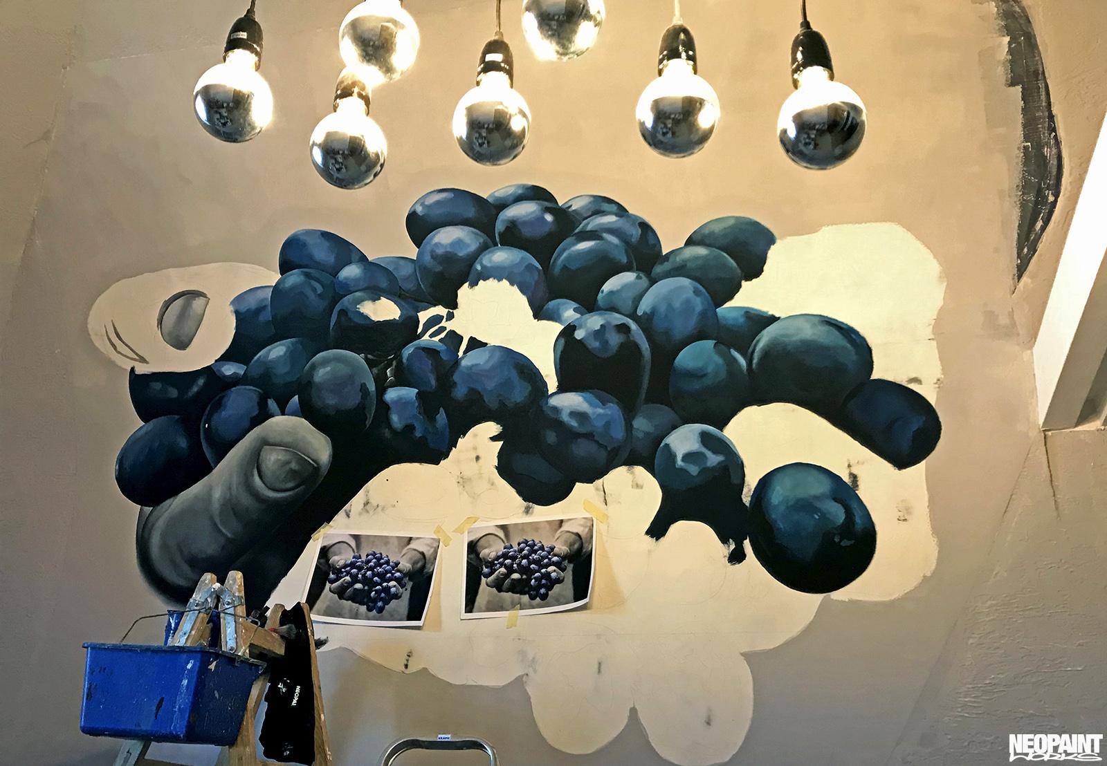 festett faldekoráció - dekorfestés - eger - szőlő - neopaint works (5)