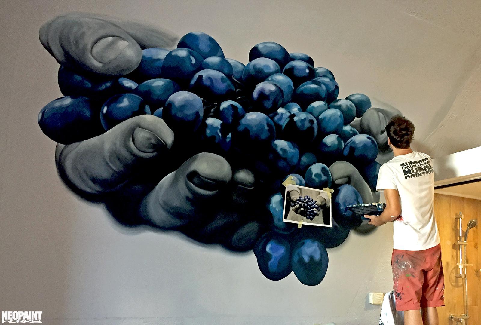 festett faldekoráció - dekorfestés - eger - szőlő - neopaint works (6)