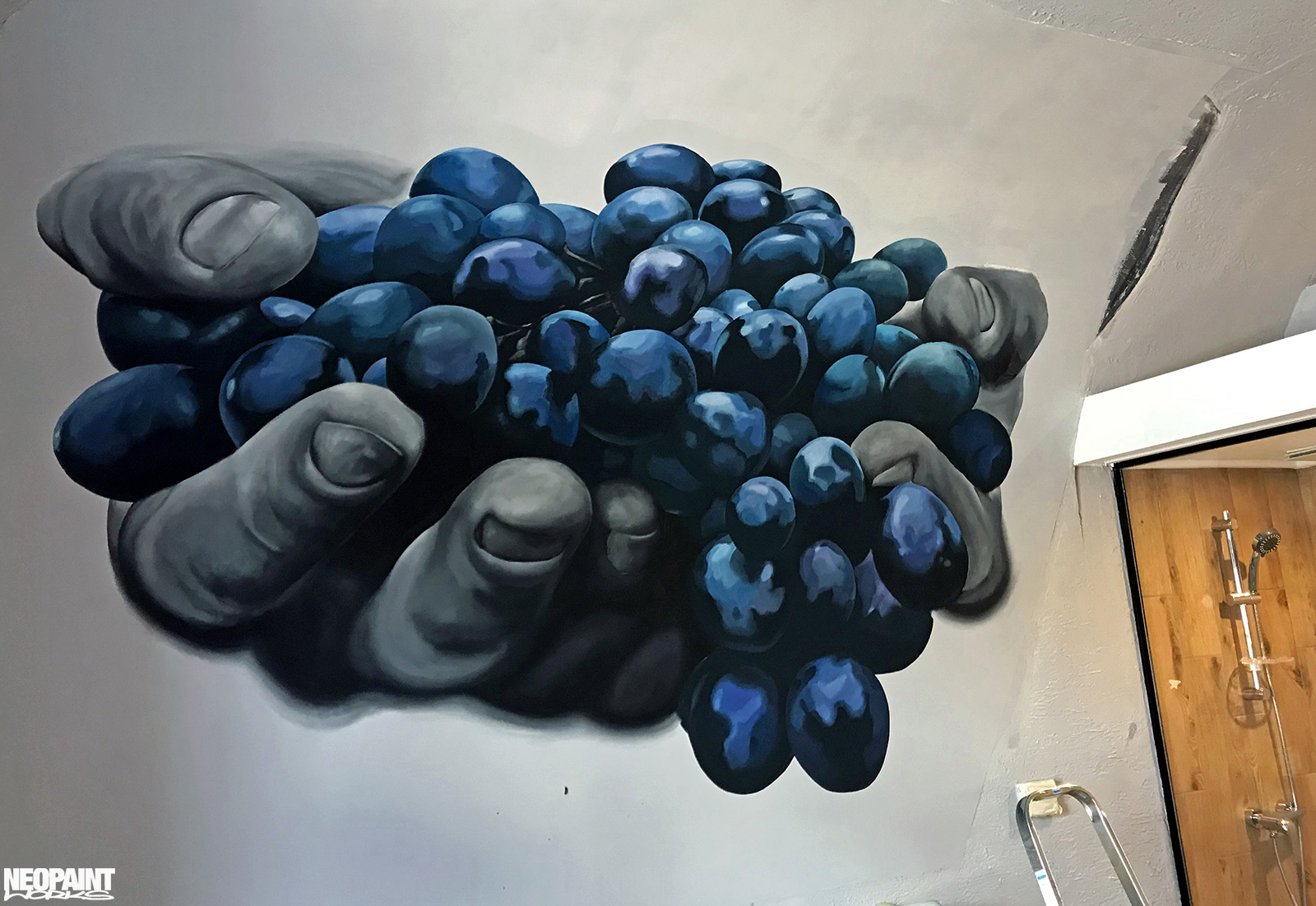 festett faldekoráció - dekorfestés - eger - szőlő - neopaint works (7)