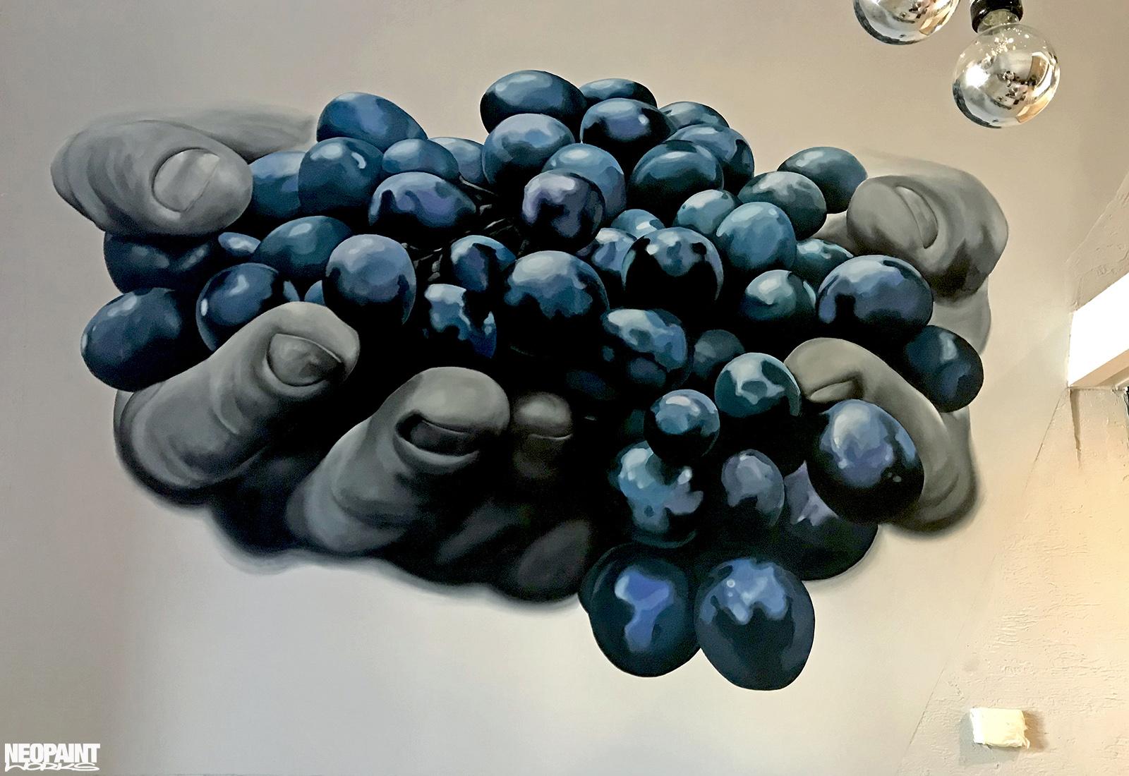 festett faldekoráció - dekorfestés - eger - szőlő - neopaint works (8)